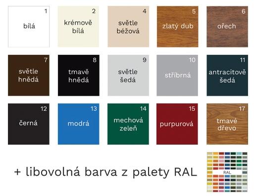 Nejvíce barev bez doplatků
