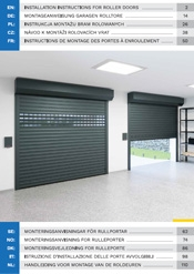 Installation instructions for roller doors