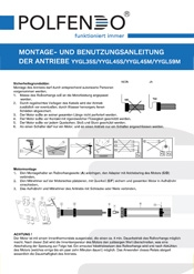 Montage- und Benutzungsanleitung der Antriebe