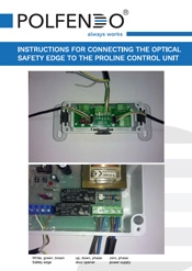 INSTRUCTIONS FOR CONNECTING THE OPTICAL SAFETY EDGE