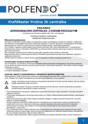 KraftMaster Proline 2k centralka