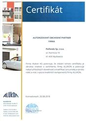 ALUKON Certifikát