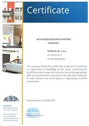 ALUKON Certificate