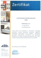 Certyfikat ALUKON