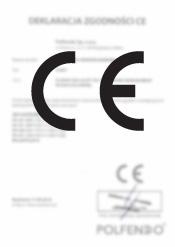 Deklaracja zgodności - fotokomórki P5001