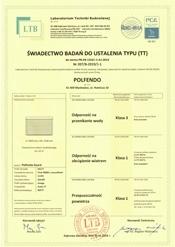 Certyfikat świadectwa badań do ustalenia typu GUARD