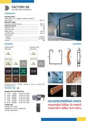 Rolovací vrata průmyslová FACTORY 95